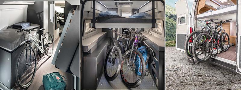 Vanomobil campervan fietsen