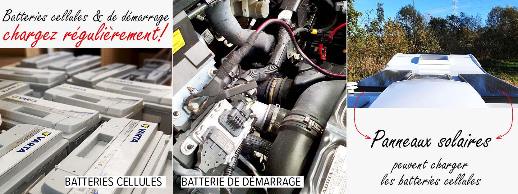 Vanomobil stockage batteries