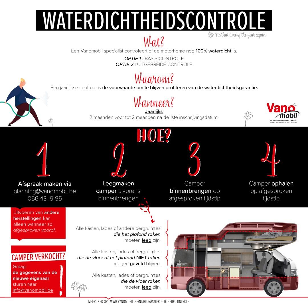 Vanomobil waterdichtheidscontrole