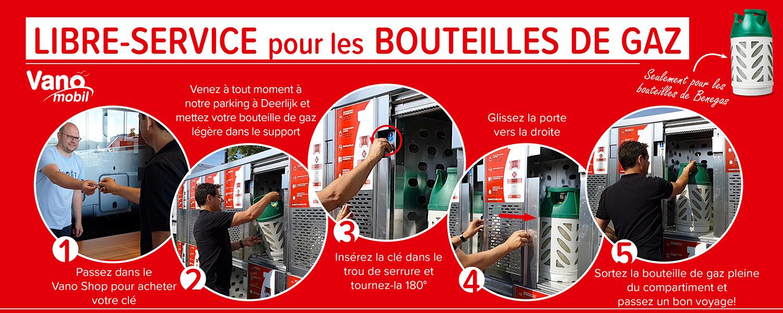 Libre service pour les bouteilles de gaz